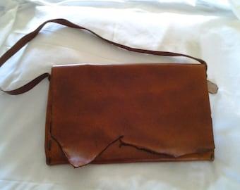 Leather laptop / messenger bag