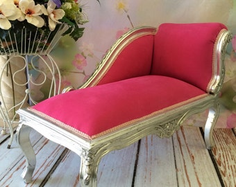 shabby chic chaise etsy. Black Bedroom Furniture Sets. Home Design Ideas