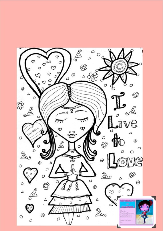 Positive Coloring Pages By Strawberrycraft On Etsy