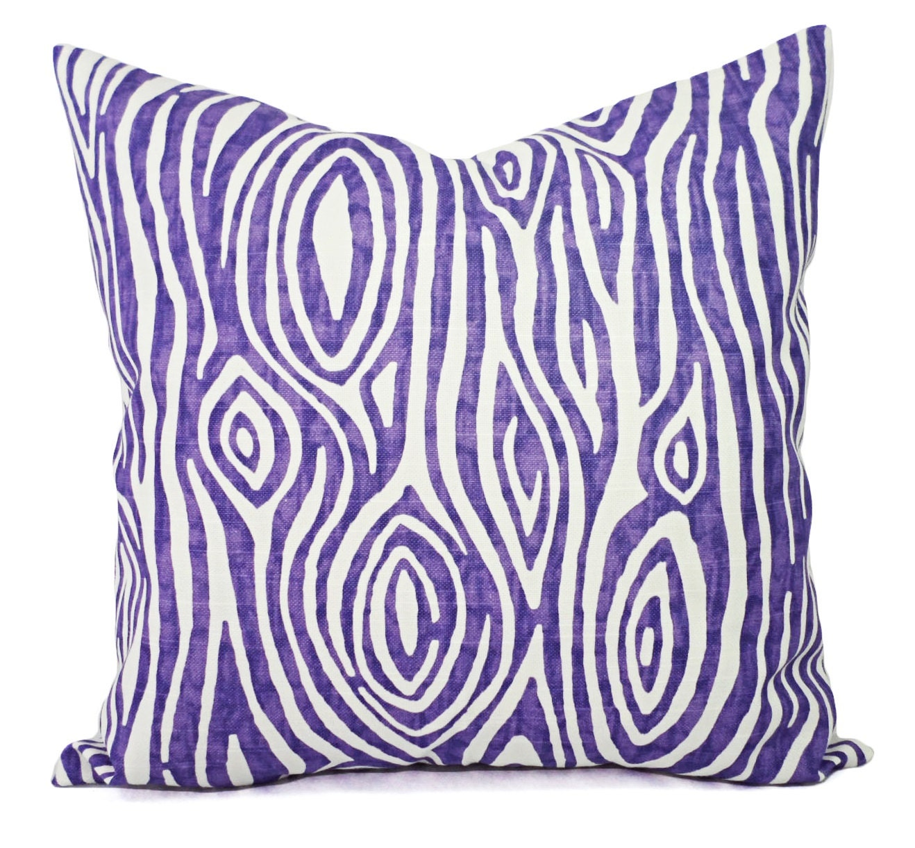 CLEARANCE One Purple Pillow Cover Decorative Pillow Cover