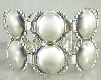 Wide Sterling Silver Bracelet RNEAAY-D