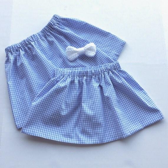 blue gingham skirt wizard of oz dorothy baby skirt