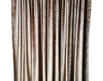 Navy Blue Velvet 72 Inch H Curtain Long Panel Modern Custom