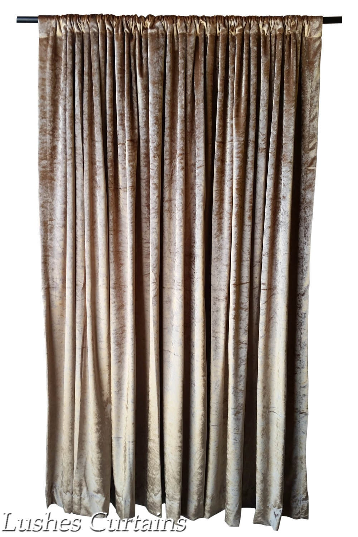 Gold 72 Inch Velvet Curtain Panel Drape Large Home Living