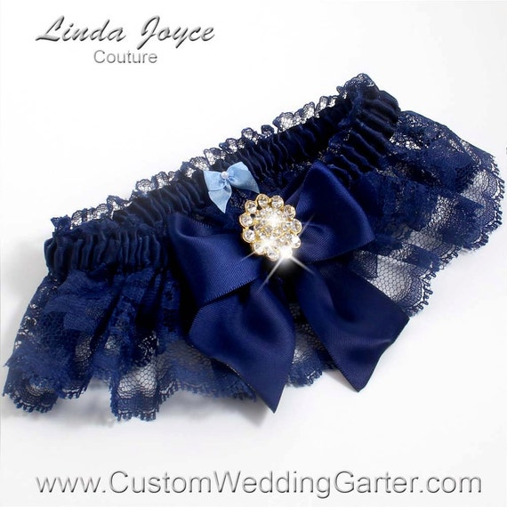 Items Similar To Navy Blue Wedding Garters Bridal Garter