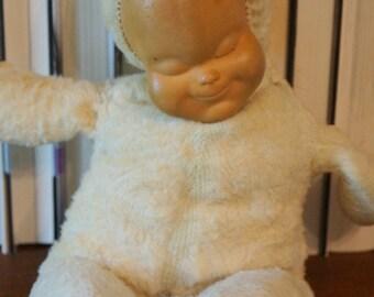 Vintage Plush Sleeping Doll