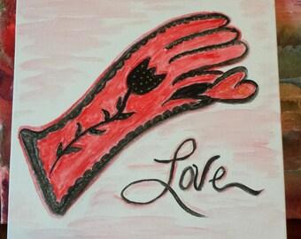 Glove Watercolor