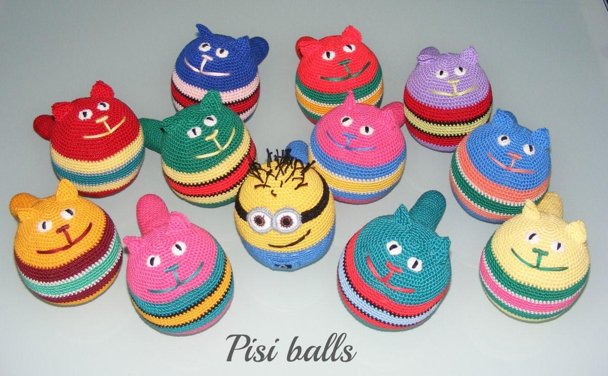 Amigurumi Smiley Ball : Stress ball amigurumi crochet cat cat toy smiley by ...