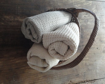 s o f t  natural bath towel _ handmade from natural linen, hemp or organic cotton