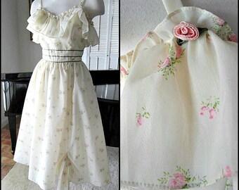 CANDI JONES Vintage Dress / Candi Jones 60s / fits S