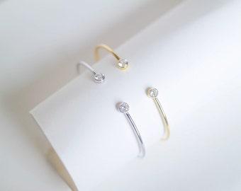 Bezel Bangle Bracelet
