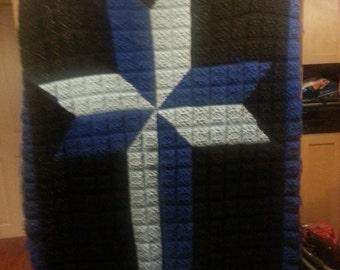 Crochet Cross Afghan