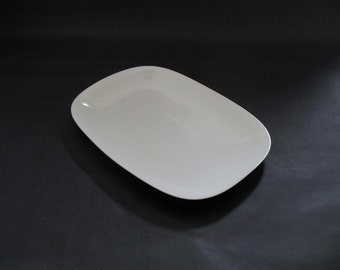 Block Transition White Oblong Platter - Gerald Gulotta - Langenthal, Switzerland 1970