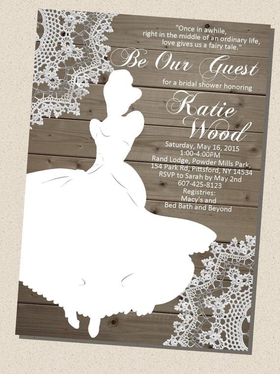 Rustic Wooden Vintage Disney Princess Cinderella