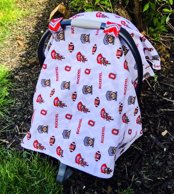 ohio state buckeyes osu carseat canopy car seat by elevennineteen. Black Bedroom Furniture Sets. Home Design Ideas