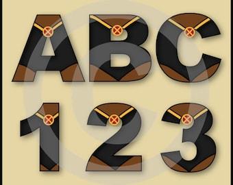 Storm (X-Men) Alphabet Letters & Numbers Clip Art Graphics