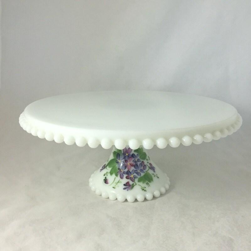 Anchor Hocking Milk Glass Cake Stand