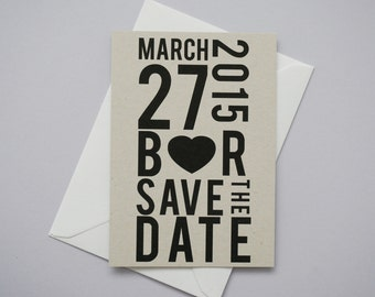Modern Statement Save The Date // Eco Natural
