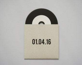 Retro Vinyl CD Favour // Wedding Date