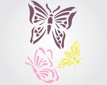 Butterfly Dance Craft Stencil