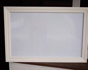 "37 1/2"" x 25 1/2"" White Framed Magnetic Dry Erase Board"