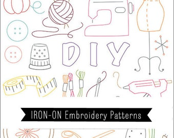 Sublime Stitching Modern Hand Embroidery Pattern Transfers - Craft-opia- Iron on Re-usable templates includes embroidery how-to
