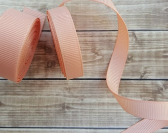 3/8 or 5/8 inch PETAL PEACH grosgrain ribbon
