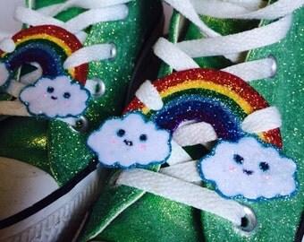 Rainbow shoe Lace Tags