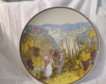 Porcelain wall plate