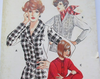 K Vintage Kwik Sew ladies Cardigan paper pattern 504 size S-M-L-XL uncut