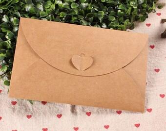 BROWN KRAFT - Plain kraft envelope in set of 10