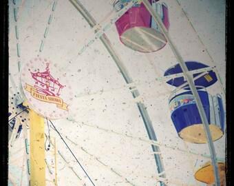 Photo Print - Carnival, Ferris Wheel, Vintage Town Fair, Vintage TTV Photography, Childrens Decor