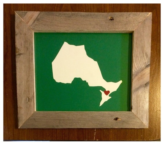 Items Similar To Ontario Hometown Pride Driftwood Frame On