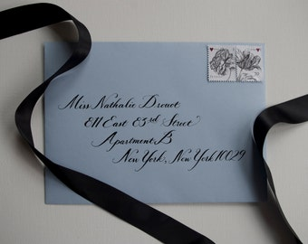 Hand Calligraphy Envelope Addressing: Nathalie Style