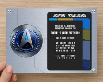 Star Trek Party Invitation | Digital File
