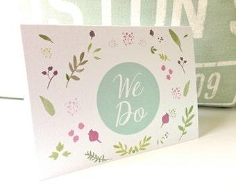 Wedding Invitations - Rustic Wedding Invitation - Floral Wedding Invitations -  Modern Wedding Invitation - We Do