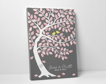Wedding Tree Guest Book - Wedding Wishes Guest Book - Guestbook Tree - 75-100 Guests - Wrapped Canvas - 16x20,20x30 or 24x36 Inches