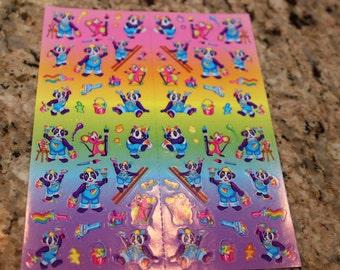 Vintage Lisa Frank Panda Painter Mini Stickers S725