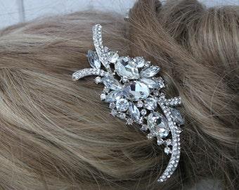 Beautiful Rhinestone and Crystal Hair Comb