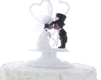 Vintage Africian American Cake Topper/ Wedding Topper/ Anniversary Topper