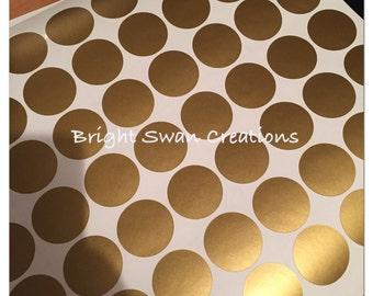 "Wall confetti, peel and stick, set of 200 1"" vinyl wall decals, polka dots, polkadots, circles, nursery decor, vinyl wall dots"