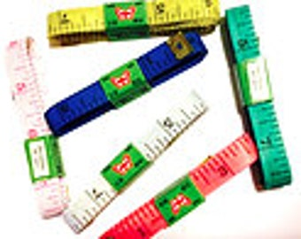 """6 pcs body Tape Measure, tailor, sewing 60 inches ,1/2"""" Wide - Soft, sewing"""