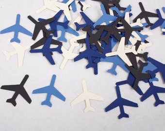 50 Airplane Confetti, Party Decorations for Airplane Birthday, Airplane Baby Shower, Weddings, Travel Theme Party, Retirement Party