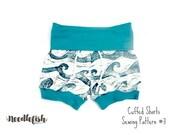 KIDS SHORTS SEWING Pattern - Cuffed Shorts Sewing Pattern - Baby Cuffed Shorts Sewing Pattern - Toddler Cuffed Shorts - Sizes 0-6 months - 8