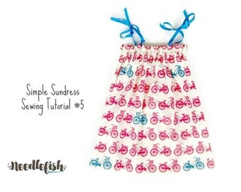 BABY DRESS SEWING Pattern - Easy Sundress Sewing Tutorial - Izzy Dress - Sizes 6mo.-9/10 - Girls Dress - Easy Sewing Pattern