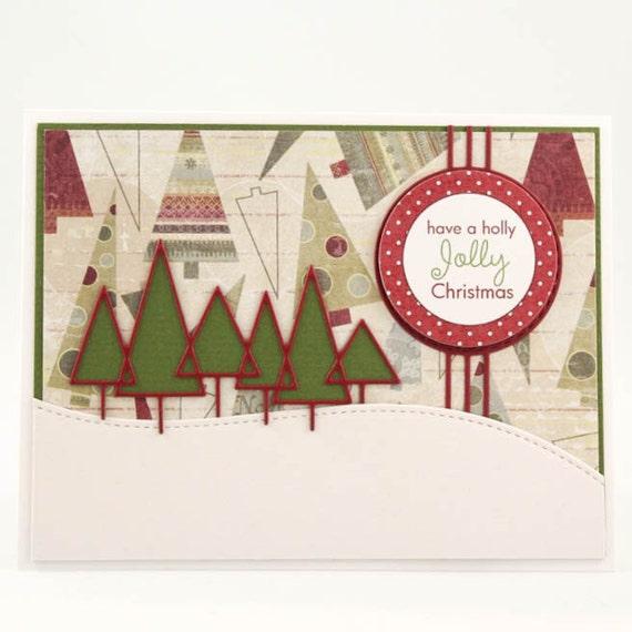Handmade christmas card christmas greeting card unique for Elegant homemade christmas cards