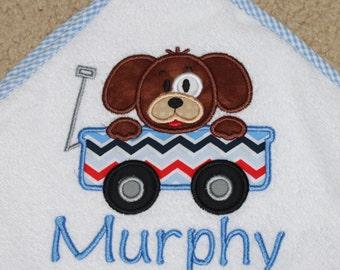 Hooded Bath Towel-Personalized Hooded Towel-Baby Bath Towel-Puppy Bath Towel-Monogram Hooded Towel-Hooded Towel-Puppy Towel