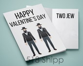 Happy Valentine's Day Two Jew - Humor Funny Love Marriage Relationship Card
