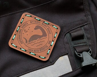 Loch Ness Monster Leather Merit Badge Patch