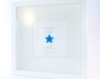 Love You Daddy Personalised Framed Print